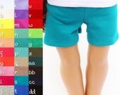 Fits like American Girl Doll Clothes - Knit Shorts, You Choose Color, Made To Order