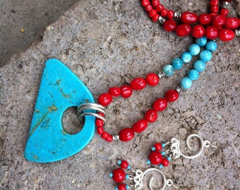 Earth Energy - Bamboo Coral & Howlite