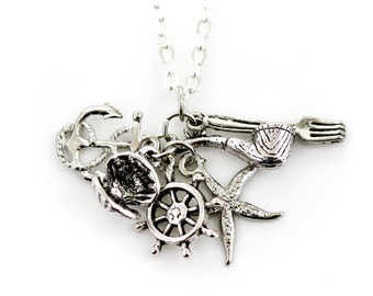 Silver Under the Sea Charm Necklace with Dinglehopper and Snarfblat