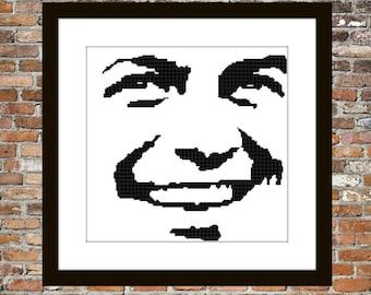 Frank Sinatra - Counted Cross Stitch Pattern