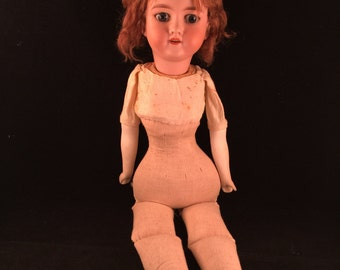 Antique/Vintage Early 1900's Made in Germany Bisque Wind Up Musical Doll