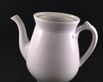 Antique/Vintage White Ironstone China Teapot (No Lid)