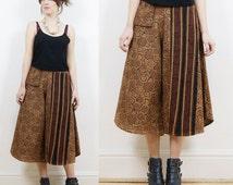 70s boho pants, culottes, vintage culottes, tribal print pants, high waisted pants, hippie pants, boho pants,