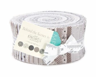 SALE Jelly Roll Strips -BEHIND THE Scenes Moda Fabric by Jen Kingwell Designs