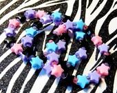 Pastel Goth Kandi Bracelets, Star Kandy Set, Rave Plur Singles