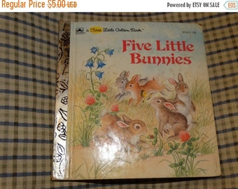 Five Little Bunnies, c 1985 First Little Golden Books, Easter Rabbit, Bunny Tales, Rabbits Artwork, Illustrated, Art, Children Child's Book