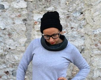 High neck sweatshirt in soft organic cotton fabric,women's clothing, sweaters for women