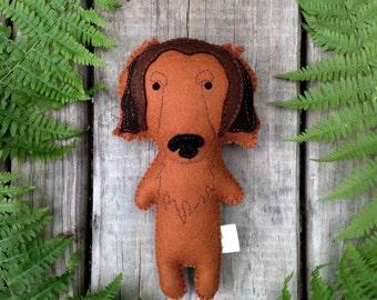 Felt Stuffed Dachshund, Dachshund toy, Stuffed Dog, Felt Dog, Stuffed Dog