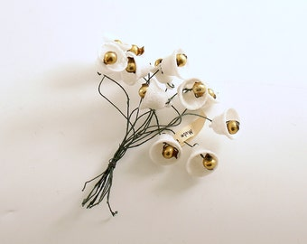 Vintage Frosted Bell Picks Christmas Decoration Corsage Picks