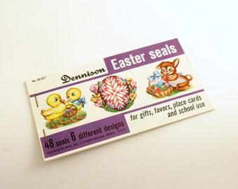 Vintage Easter Seals Easter Stickers Dennison