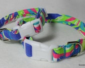 Handcrafted Lilly Pulitzer Multi Tucan Play Print Fabric Dog Collar- All Sizes- Free Shipping
