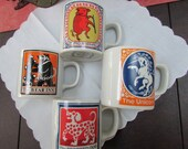 VINTAGE - From England - English Inn Signs Mugs by Burleigh