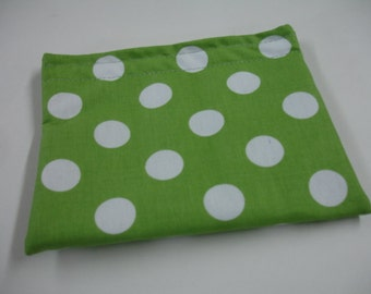 Green Dots Resuable Snack Bag READY TO SHIP