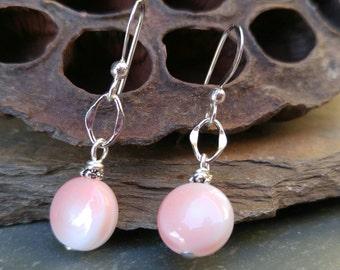 Pretty in pink dainty Czech glass earrings