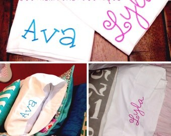 Monogrammed Pillow Case - you pick font and thread color
