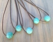 amazonite polynesian roping necklace / waterproof / kid-proof / surf-proof / everyday and anywhere / minimalist beauty