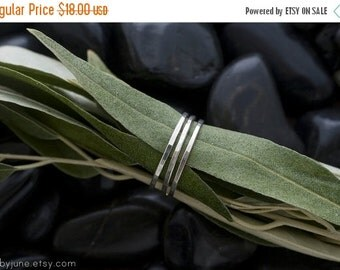 Valentines Day Sale Single Thin Silver Band   Stacking Ring   Mid Finger Ring