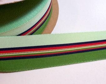 Green Ribbon, Offray Eastland Grosgrain Ribbon 1 1/2 inches wide x 50 yards