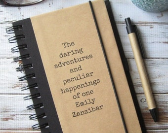 Personalized Journal, Notebook, Birthday Gift, Daring Adventures