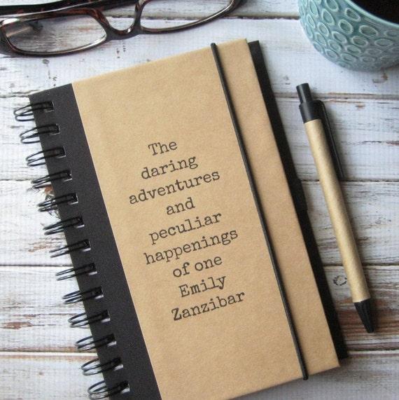 Journal, Blank Book, Personalized Notebook, Boyfriend Gift, Best Friend Gift, Daring Adventures