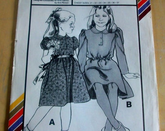 Stretch and Sew 908 girls basic dress sewing pattern