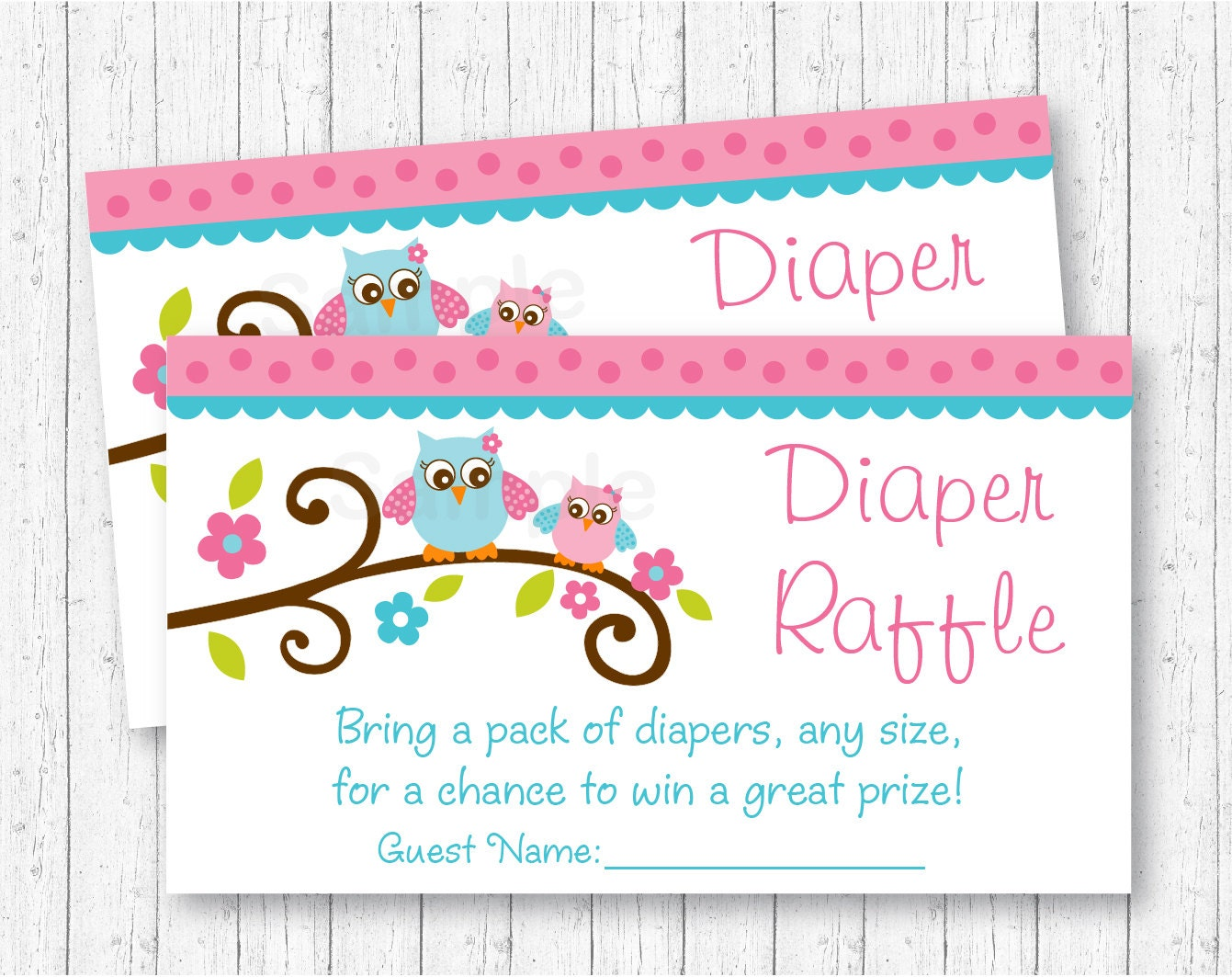 girl owl diaper raffle tickets owl baby shower pink owl