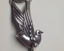 1942 Los Castillo Taxco Sterling Silver Bracelet