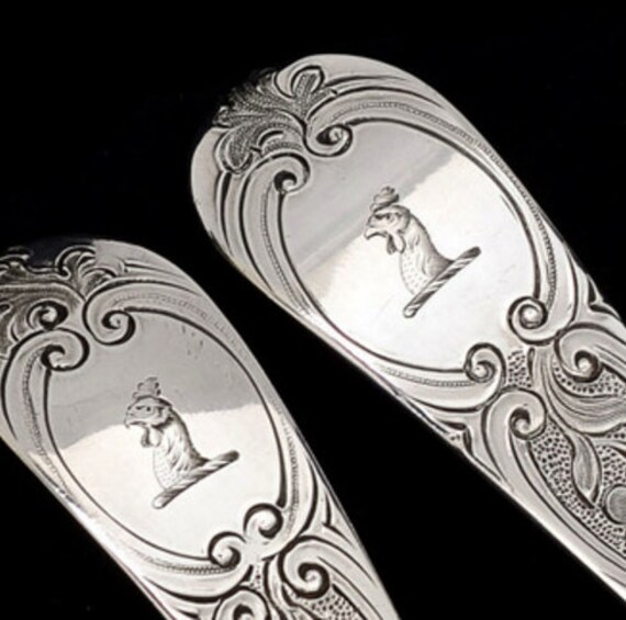 1776 and 1780 Hester Bateman George III Basting Spoon Pair  in Gilded Sterling Silver English