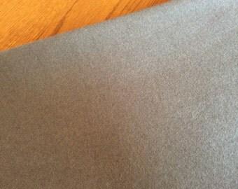 100% Gray Wool Fabric