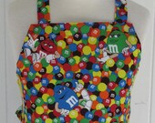 Child's Full BBQ Style Apron, M & Ms, Candy, 5 and up, Child's Apron