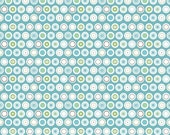 50% OFF Flower Patch Dots Blue  - 1/2 Yard