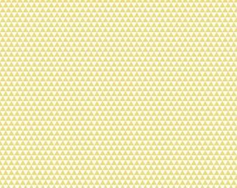 SALE Oh Boy Yellow Triangles - 1/2 Yard
