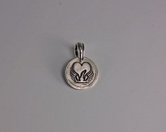 ShannonOReilly's Forever In My Heart - Greyhound Winged Heart Small Pendant - Fine & Sterling Silver