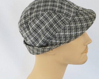 Vintage 1950s Hat Mans Plaid Bucket Style Fishing Cap NOS Sz 7 1/8