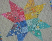 SCRAPPY STAR Mini Quilt from Quilts by Elena Modern Bold Wall Hanging Table Topper