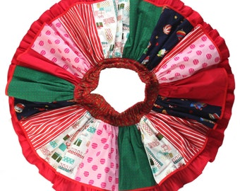 Christmas Clothes Twirl Skirt Twirling Skirt Ready to Ship Ruffle Skirt Size 3-4