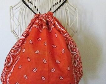 Orange Bandana Backpack