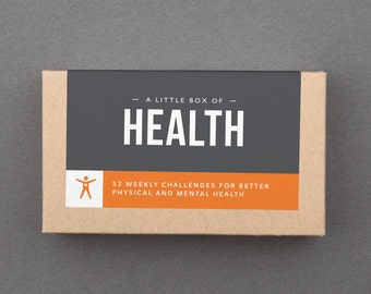 "Stocking Stuffer, White Elephant, Novelty Gift.  For Man, Woman. Him, Her. Fitness, Health, Motivation, Inspiration. ""Box of Health"" (L5H01)"