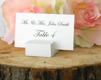 Place Card Holder +   White place card holders-Set of 100