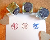 Food Allergy Rubber Stamps / Gluten Free, Peanut Free, Lactose Free / Food Labels, Escort Cards - Handmade by BlossomStamps
