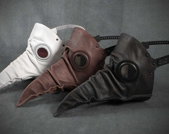 SALE! Two Stiltzkin  masks leather plague doctor. Buy two get the second one over half off!