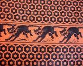 Halloween Fabric Destash – Scaredy Cats– 1/2 Yard, Vintage Look, 100% Cotton, By Moda