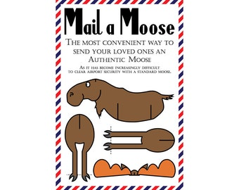 "Moose Postcard, Set of 8 ""Mail a Moose"" Postcards (Non Location Specific)"