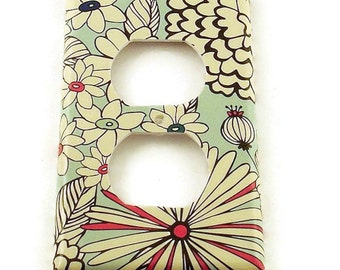 Outlet Switch Plate Light Switch Cover  Switchplate in  Sketch Flower  (142O)