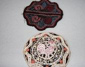 Antique Appliques Glass Bead Hat Decoration  Childs Rooster Clothing Decration