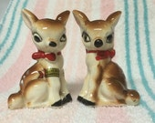 CYBER MONDAY COUPON Kitschy cute deer salt and pepper shakers