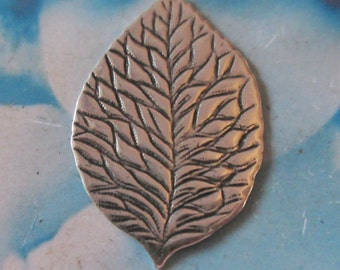 Sterling Silver Ox Plated Brass Leaf Pendant Bent or Straight 784SOX  x1