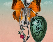 Patience - 11x14 Surreal Fantasy Fine Art Collage Print