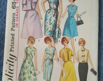 Simplicity 5398 Vintage 60's Sewing Pattern