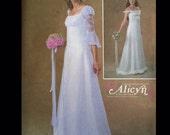 Alicyn Exclusives Ren Goth Empire Waist Ethereal Wood Fairy Hippie Arwyn Flounced Wedding Dress Gown Sewing Pattern M4380 10 12 14 16